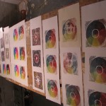 prints laid out to dry by Lauren McKinley Renzetti