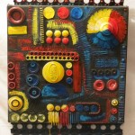 Tactile & Interactive paintings, sculptures & altered books