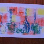 Vases, Ying Monoprint by Lauren McKinley Renzetti