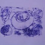 Ovals mono print by Lauren McKinley Renzetti