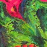 close up of Reclining Cliff by Lauren McKinley Renzetti