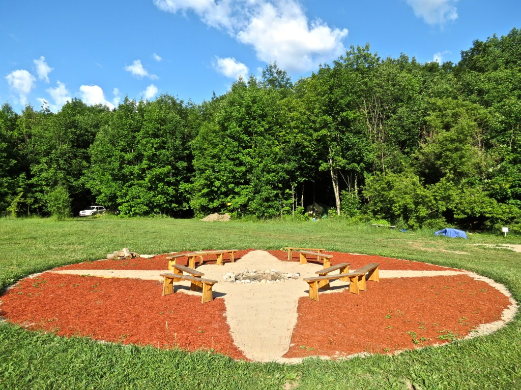 Compass Fire Pit at Unicamp