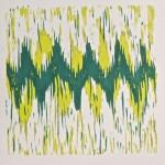 Undertones green on white by Lauren McKinley Renzetti
