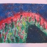 Cowpie Hill Monoprint by Lauren McKinley Renzetti