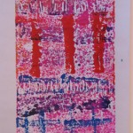Pink Monoprint by Lauren McKinley Renzetti
