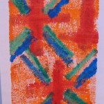 Orange Monoprint by Lauren McKinley Renzetti