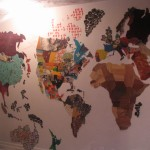 Map of the World -living room hallway by Lauren McKinley Renzetti
