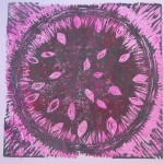 6. Seedless Watermelon, softoleum 6 x6 $20 by Lauren McKinley Renzetti