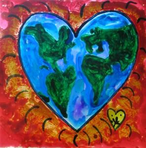 10. Utopian Earth 10 x 10 $35 by Lauren McKinley Renzetti