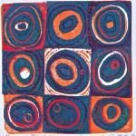 Blue to Orange, softoleum reduction by Lauren McKinley Renzetti