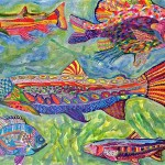 Fish Painting, Corporate workshop, by Lauren McKinley Renzetti