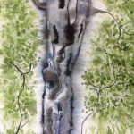 Tree Bark, watercolor by Lauren McKinley Renzetti