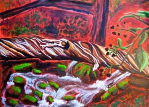 Witches Tree with Raspberries, by Lauren McKinley Renzetti