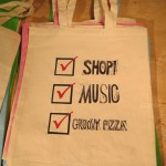 Check Mark Bags all with different messages $7 by Lauren McKinley Renzetti