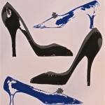 Shoes black , blue grey-by Lauren McKinley Renzetti