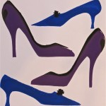 Shoes-purple blue grey by Lauren McKinley Renzetti