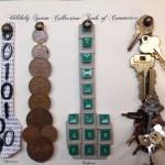 Tools of commerce, information, money, keyboard, power $150 by Lauren McKinley Renzetti