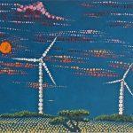 wind harvesters by lauren mckinley renzetti 36 x 12 , $350