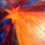 North Star Ligth II, acrylic on canvas 8 x8 $60 by LaurenMcKinley Renzetti
